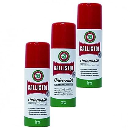Ballistol Spray, 3 latas a 50 ml Waffenöl Kriechöl Pflegeöl 21450