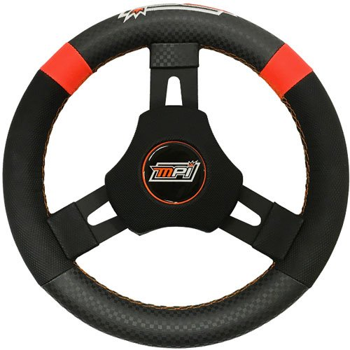 MPI MPI-KQR-11 Kart/Quarter Midget Steering Wheel 10.75 Diameter High Tack Synt