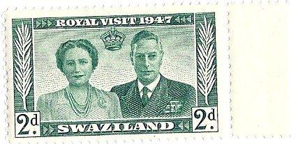 Swaziland 1947 Postage Stamp 2d Royal Visit MNH