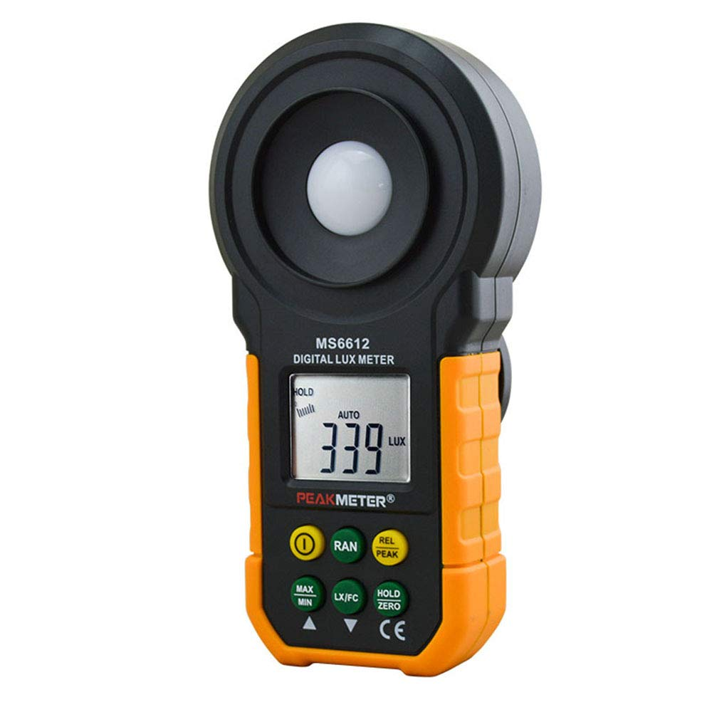 Light Meter Digital Illuminance Meter Handheld Ambient Temperature Measurer with Range Up to 200,000 Lux Luxmeter with 3 Digit LCD Screen by Lee Lam