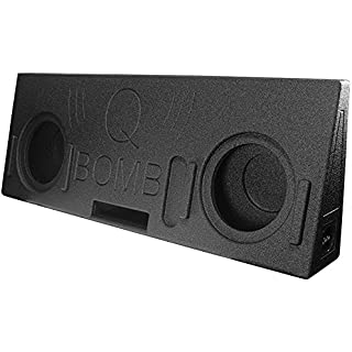Sale Off Q Power Dual 10' Ported Enclosure for 2014-2016 Toyota Tundra Crew Max Trucks with Spray Liner Finish