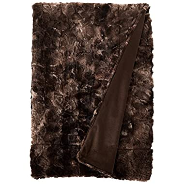 Brielle Nesting Faux Fur Reversible Throw, 50  by 70 , Tundra Swan
