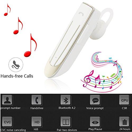 2016 Sport Wireless Bluetooth 4.1 Headphone Earphone Headset(White) - 2