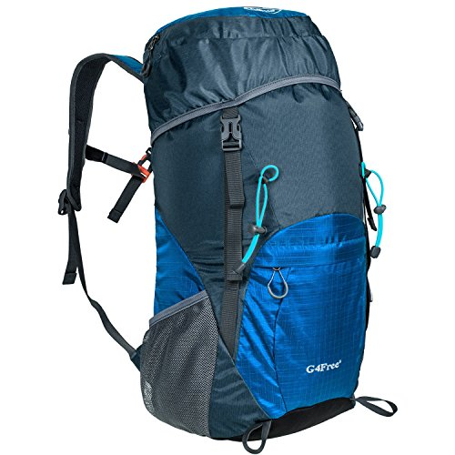 G4Free Large 40L Lightweight Water Resistant Travel Backpack/Foldable & Packable Hiking Daypack(Dark Blue)