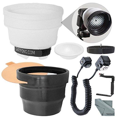 Gary Fong Lightsphere Diffuser w/ SnootSkin Kit for Nikon SB-700, SB-5000, SB-300, SB500, SB-910, SB-400, All AF Speedlight Flashes + Bundle w/ Bracket & 3' Cord from Photo Savings