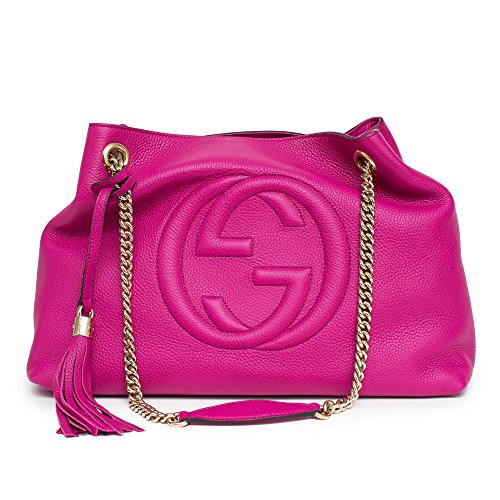 Gucci-Soho-Leather-Shoulder-Bag-Pink-Bright-Bouganvillia-Leather-Handbag