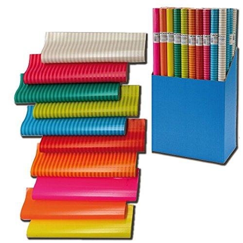 10er Rollen Set Colour Mix Geschenkpapier 200 x 70 cm verschiedene Designs