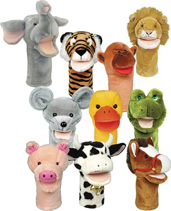 Plushpups Hand Puppets Set Of 10 By Get Ready Kids