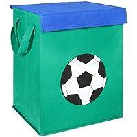 FABELBUNT® Contenitore per giocattoli piegabile con diversi motivi (37x30x26cm)