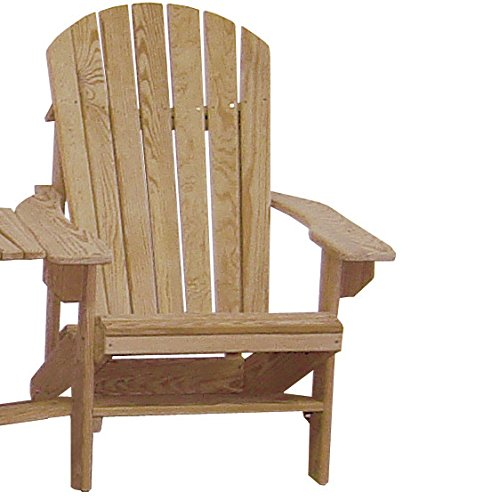 Cypress Adirondack Chair with Contoured Seat and Back assembled with Stainless Steel Hardware Handmade in the USA with Rot-resistant Eternal Cypress W…