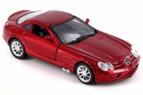 New Ray Mercedes-Benz SLR McLaren, Metallic Dark Red SS-52291A - 1/32 Scale Diecast Model Toy Car but NO Box