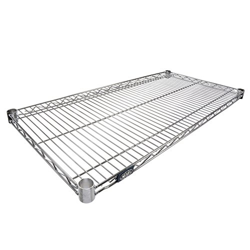 Nexel Wire Shelf, Chrome Finish, 24
