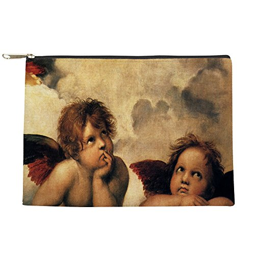 CafePress - Sistine Madonna Angels By Raphael - Makeup Pouch ()