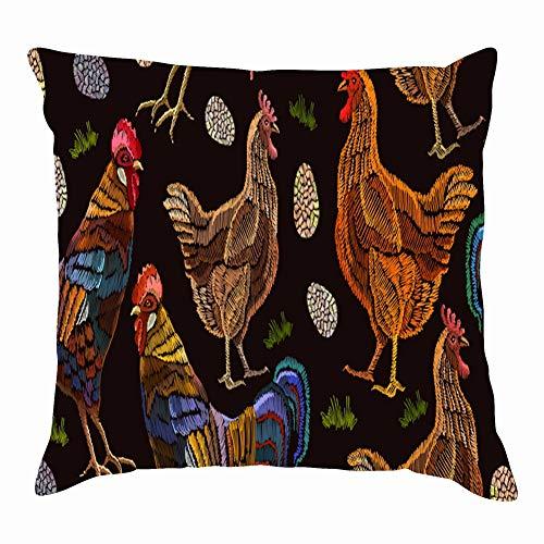 Leopard kiss Print Lipstick Fashion Animals Wildlife Beauty Throw Pillow Case Square Soft Cushion Cover for Sofa 18x18 -