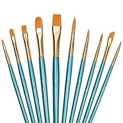 Paint Brush Set, Winlip 10pcs Professional Paint Brushes Artist for Watercolor Oil Acrylic Painting