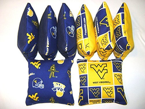 Bean Bag Toss Game Cornhole Bags West Virginia Mountaineers Set of 8 Wvu