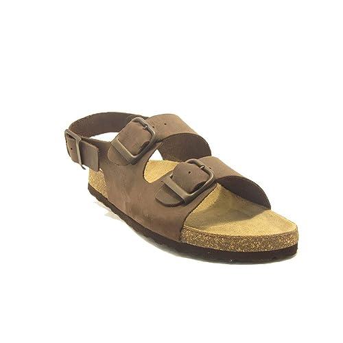 15024 - Sandalias bio sprinter con tres hebillas marrón: Amazon.es: Zapatos y complementos