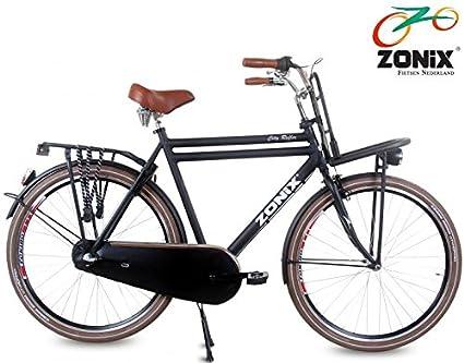 Bicicleta holandesa para hombre Zonix City 3 velocidades 71.12 cm negro 57 cm