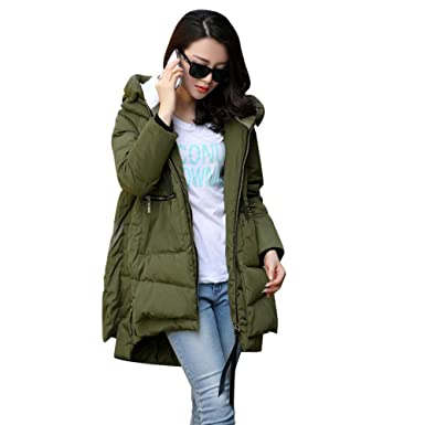 Womens Thickened Down Jacket,Sunyastor Cotton-Padded Coat Oversize Warm Down Parka Puffer Outerwear