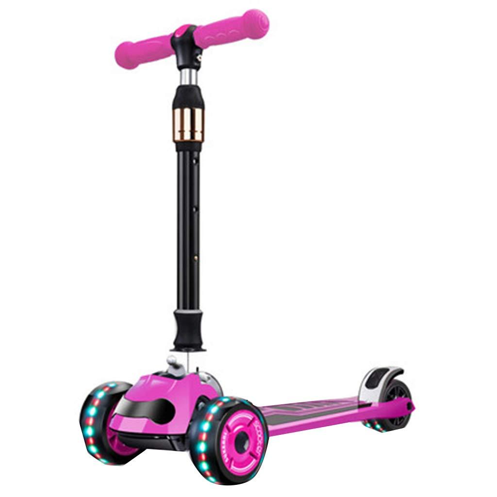 PUライト付きホイール4輪スクーター調節可能なハンドル屋外レクリエーションキッドアクティビティ軽量構造持ち運びが簡単 B B07QYL8NWP B B B07QYL8NWP B, 豊里町:202ff5f7 --- fooddim.club