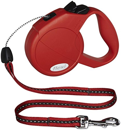 Flexi Explore Grip Retractable Cord Dog Leash, Small, 23-Feet Long, Supports up to 26-Pound, Red