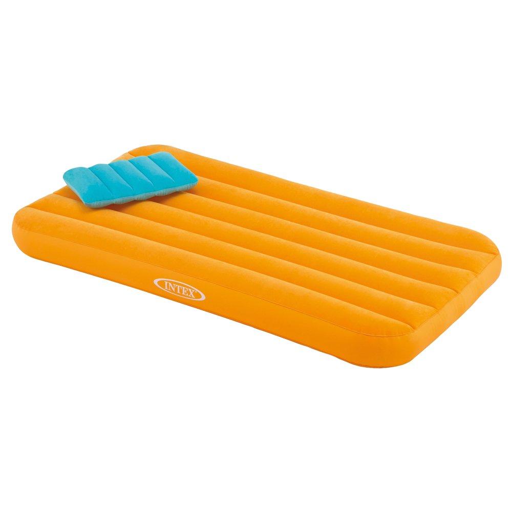 Intex 66801 - Colchón hinchable infantil con almohada Cozy Kidz. Naranja: Amazon.es: Deportes y aire libre