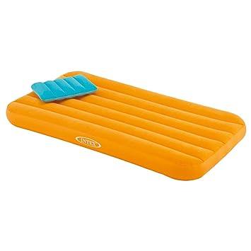 Intex 66801 - Colchón hinchable infantil con almohada Cozy Kidz. Naranja