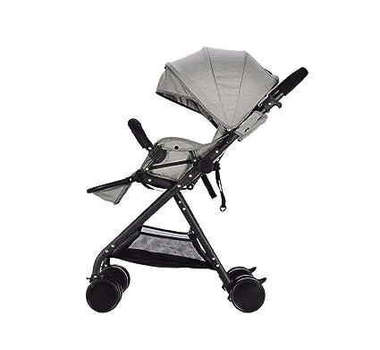 XnZLXS-Cochecitos Paisaje Alto Carrito para bebés Ultraligero Plegable Paraguas Coche Carrito para niños Vehículo