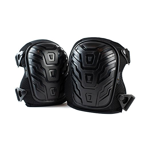 Safegravity Knee Pads for Work Cushioned Gel Padding, Adjustable Straps   Heavy-Duty Construction, Flooring, Gardening   Long-Term Injury Protection   DYI Work
