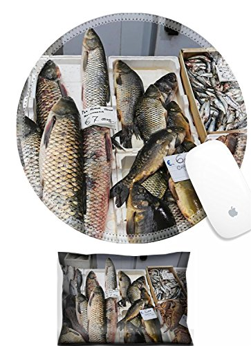 Luxlady Mouse Wrist Rest and Round Mousepad Set, 2pc IMAGE: 34207525 Fish and seafood market stall in Italy (Best Seafood In Italy)