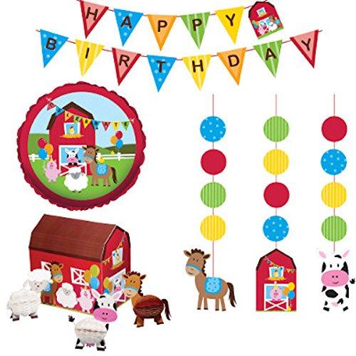 Creative Converting Party Kit, Farmhouse Fun Decor -