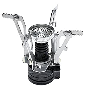 Oliasports Stove Ultralight Backpacking Canister Camp Burner with Piezo Ignition 3.9oz
