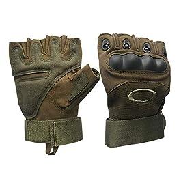 JANKI ENTERPRISE Gym Gloves Nylon Tactical Half Finger Gloves for Sports, Hard Knuckle,Hiking,Cyclling,Travelling…