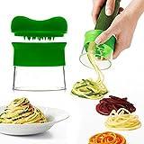 Yoeeku Kreativen Spiralschneider Good Grips / Spiralhobel für Spiralgemüse und Zucchini-Nudel, schneidet Gemüse und macht Gemüse zu einem Spaß für Kinder