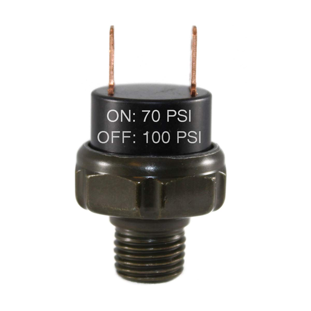 CompStudio 70-100 PSI Air Pressure Switch Tank Mount Type Thread 1//4 NPT 12V//24V for Train//Air Horn