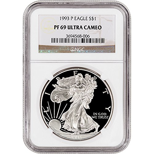 1993 Proof Silver Eagle (1993 P American Silver Eagle Proof $1 PF69 UCAM NGC)