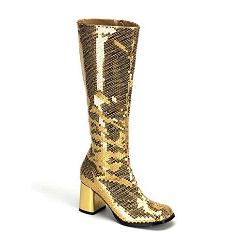 Pailetten Boot gold Gold