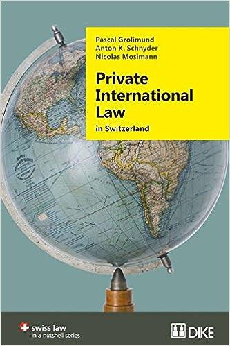 Private International Law in Switzerland (Swiss Law In a Nutshell)