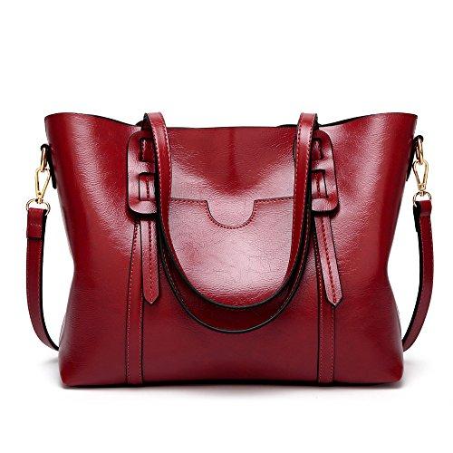 Sac Nouvelle 2018 Cuir Huile Red Rétro En Sac Mode Américain Cire ZM Simple Lady Fourre Tout Et Européen Oblique Oblique TwqdRS5p
