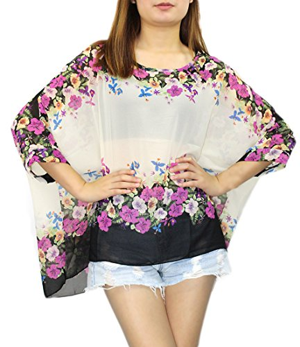 Landove - Camiseta - Túnica - manga 3/4 - para mujer patrón 35