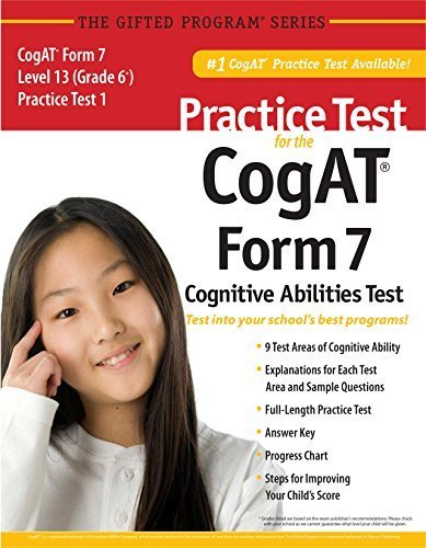 Practice Test for the CogAT® Form 7 Level 13 (Grade 6*) Practice Test 1