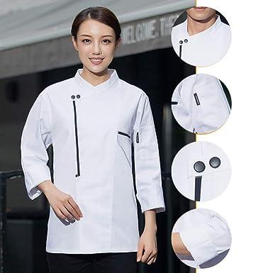 RIsxffp Chaqueta de chef ropa de cocina unisex servicio de ...