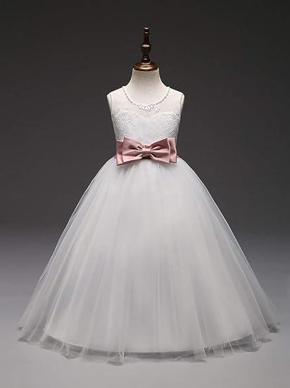 GHTWJJ Vestidos De Noche De Niña Vestido De Princesa De La Boda Vestido De Novia Vestido