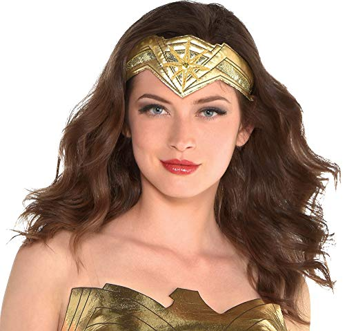 Suit Yourself Wonder Woman Headband for Adults, One Size, Faux Leather Accessory Looks Like Her Signature Tiara
