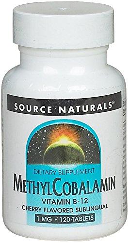 Source Naturals Methyl Cobalamin 120 Tablets (Natural B-12 Source Vitamins)