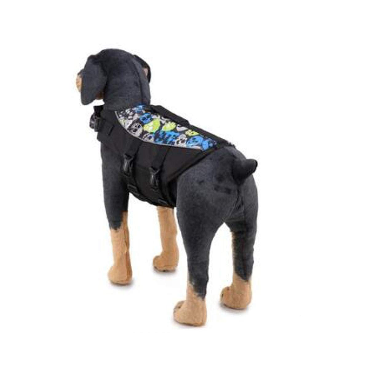 Black L Black L Life Jacket, Dog's Safe and Sturdy Swimming Vest, Oxford Cloth Quality Material, Black and Other Multi-color Optional, Easy to Carry (Size  L, M, S) (color   Black, Size   L)