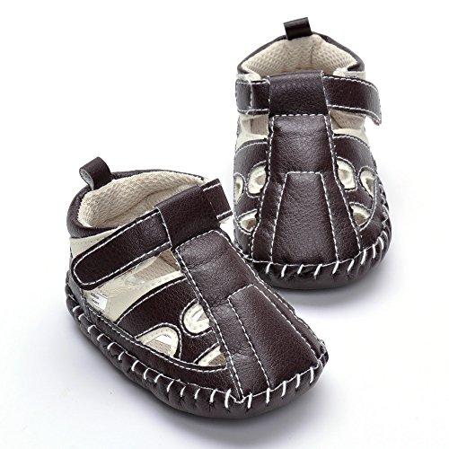 Estamico - Sandalias para bebé con diseño de mezclilla beige beige Talla:12-18 meses Marrón - marrón