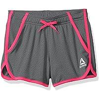 Reebok Big Girls' Mesh Athletic Shorts, Pink Glo (M, 8/10)