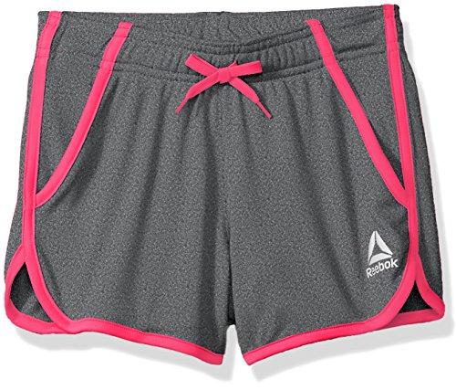 Reebok Big Girls Mesh Athletic Shorts, Pink Glo (M, 8/10)