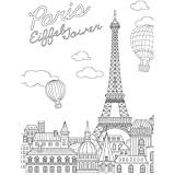 KaiserColour Coloring Poster 27''X19''-Eiffel Tower